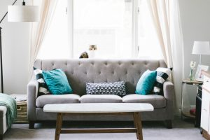 tidy sofa that has used our decluttering services
