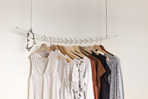 an organised clothes rail